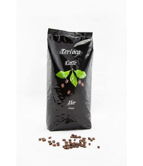 Кафе на зърна Terioca Черен бар - 1 кг.